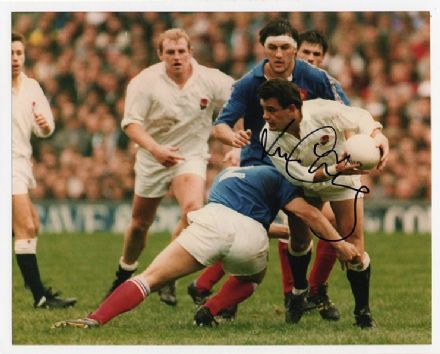 Will Carling, Harlequins & England, signed 10x8 inch photo.